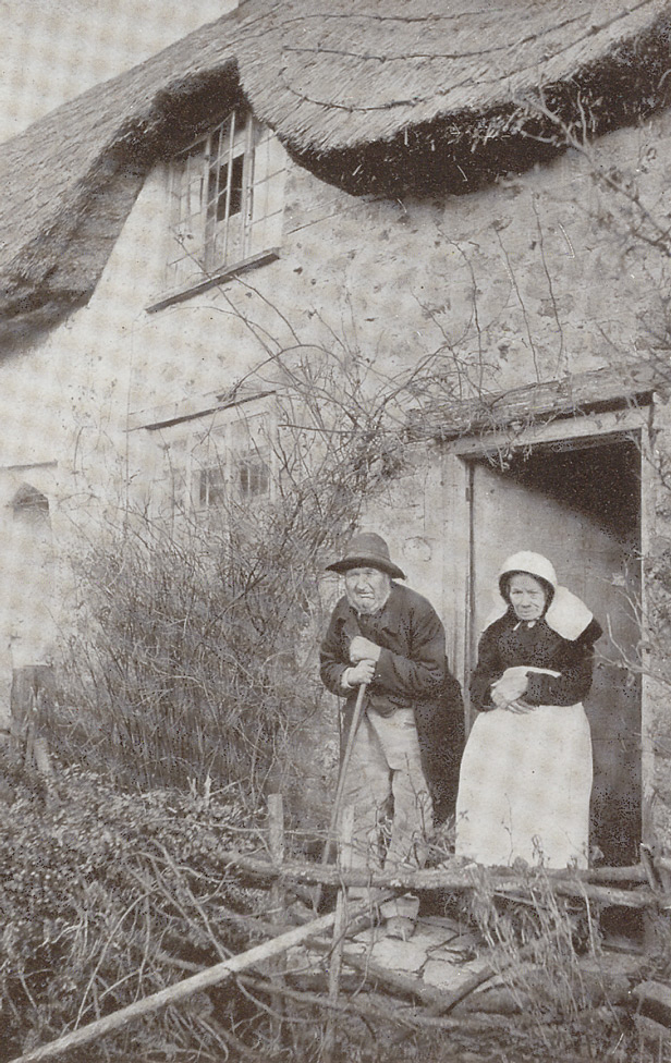 By A Beaminster Cottage, Richard Hine, 1914
